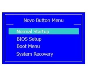 Novo Button Menu Lenovo