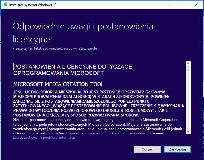 Licencja Microsoft Windows 10
