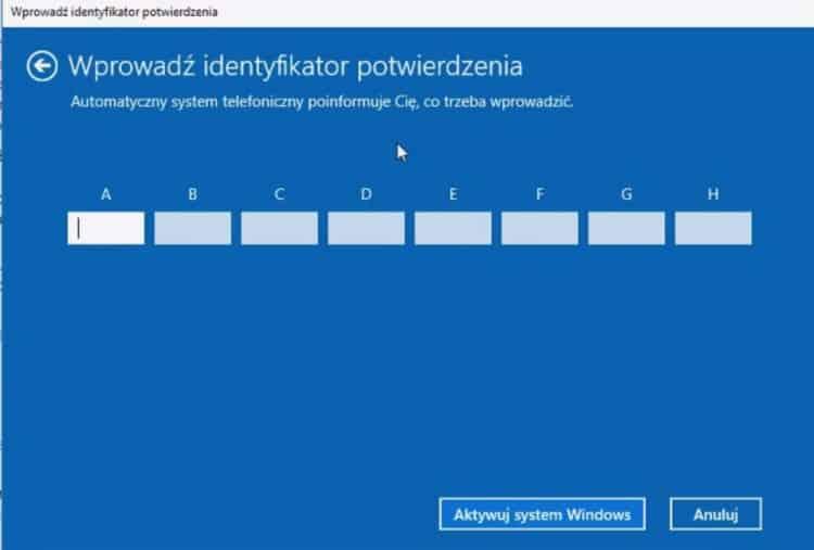 Wprowadzenie_identyfikatora_potwierdzenia_Windows_10