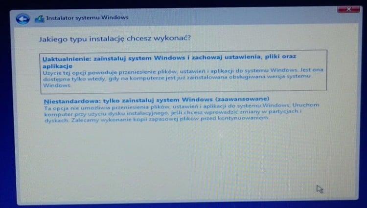 Wybór_typu_instalacji_Windows_10