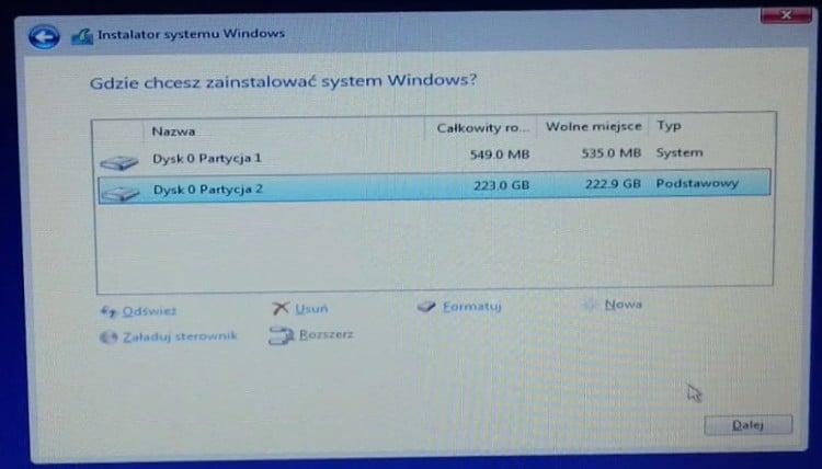 Zainstalowanie_Windows_10_na_partycji_2