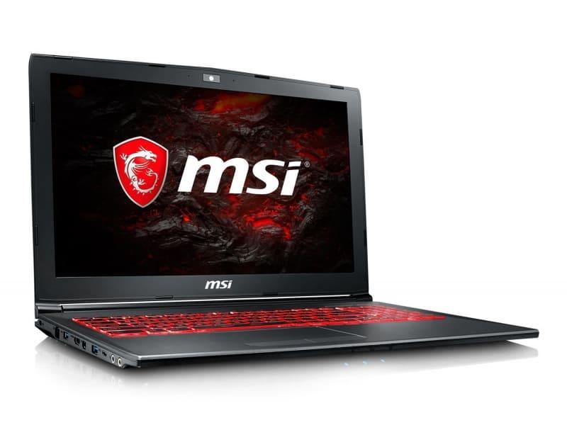 MSI GV62 i5-7300HQ 1TB HDD + 120GB SSD 8GB Ram nVidia GTX1050