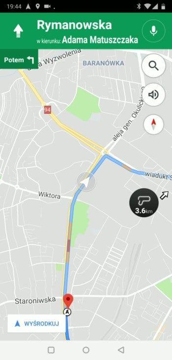 Wyśrodkowywanie - Google Maps