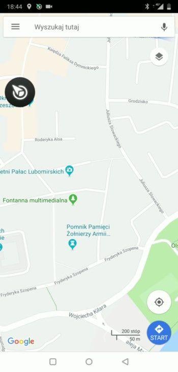 Google Maps - włączenie nawigacji