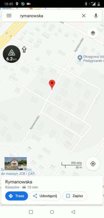 Wpisanie adresu docelowego - Google Maps
