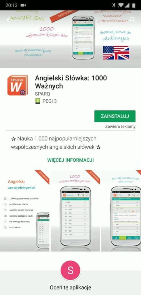 Screen_Angielski_Slowka_1000_waznych_Google_Play_Instalacja