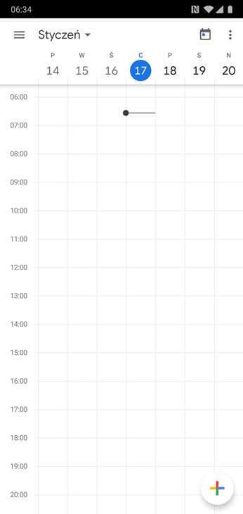 Kalendarz Google - Widok Ogólny - Smartphone
