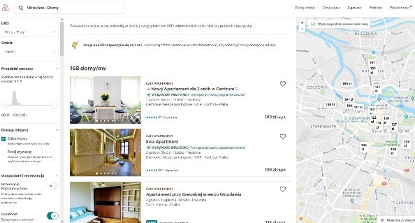 Podgląd oferty - wynajem z airbnb po odfiltrowaniu - small