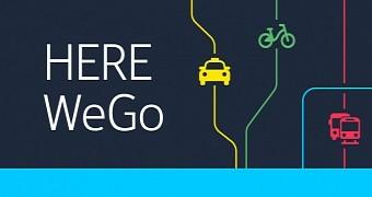 Here WeGo - logo aplikacji
