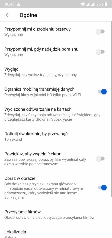 Wygląd aplikacji mobilnej YouTube